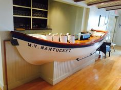 Board room bar at Nantucket Yacht Club. Rehearsal dinner held here. Overlooking the yachts and sailboats in the harbor. June 2015*