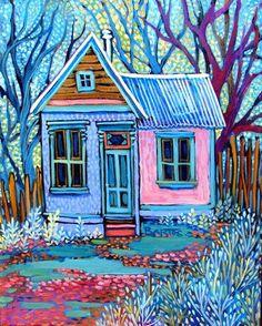Blue Door ~ Sally Bartos, New Mexico Artist