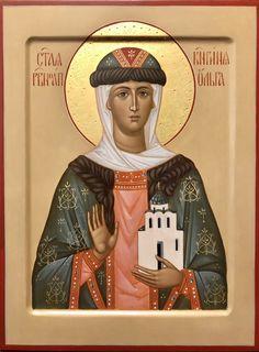 Olga Of Kiev, Byzantine Icons, Orthodox Icons, Sacred Art, Roman Catholic, Worship, Saints, England, Christian