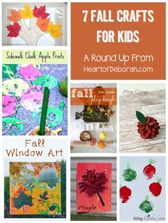 7 fall crafts for kids. Perfect as preschool activities!