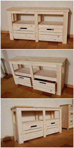 To have something really simple and creative in the house, we would bring you closer to this image where the amazing use of the table has been settled as with the pairing of the drawers. Here an interesting styling of the table is settled that is overall finished with the perfect versions of the pallet.