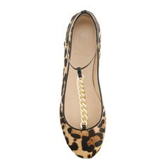 Jayne calf hair T-strap ballet flats - shoes - Women's new arrivals - J.Crew