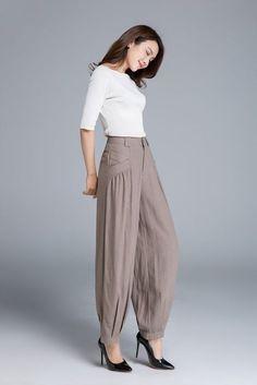 linen pant, maxi pants, made to order pants 1665