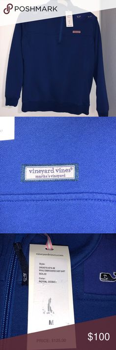VINEYARD VINES Shep Shirt Royal Ocean Size M NWT VINEYARD VINES Shep Shirt Royal Ocean Embroidered Whales Size Medium M  New with tags  Hot deals  Discount Vineyard Vines Jackets & Coats Puffers