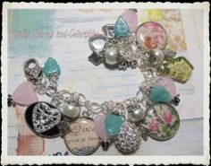 LOVE~Once Upon a time~Handmade, ONE OF a KIND~ Altered Art Charm Bracelet