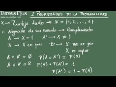 Probabilidad: Propiedades 1 y 2 Math Equations, Tutorials