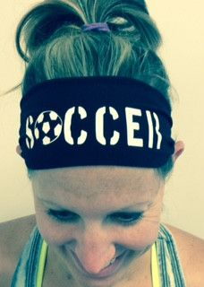 Cotton stretchy headband with soccer printed in white on the front. We can do any sort of color combination or team orders. Choose your headband color option. If you want something you don't see conta Soccer Pro, Top Soccer, Soccer Cleats, Soccer Players, Football Soccer, Soccer Ball, Soccer Stuff, Soccer Socks, Soccer Motivation