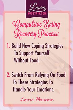 Compulsive eating quote: Start with a decision, a commitment, and a burning desire