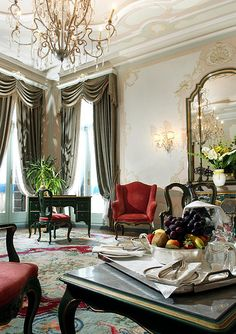 "Hotel Gritti Palace, Venice—""Suite Del Doge"" Grand Canal Suite Sitting Room"