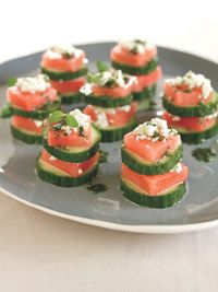 These Watermelon Feta Stacks are the perfect easy to make hors d'oeuvre | prevention.com