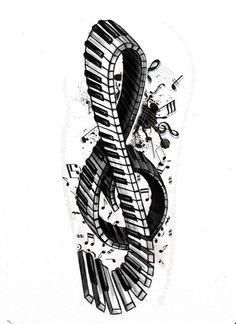 Tattoo+series+-+Violin/piano+key+by+StereoiD.deviantart.com+on+@deviantART
