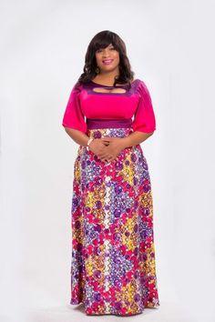 Tenue africaine pour des femmes africaines avez une grande taille ...