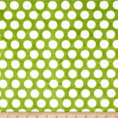 Minky Cuddle Classics Mod Dot Jade/Snow from @fabricdotcom  This ultra soft and luxurious minky cuddle fabric is perfect for making ultimate minky blanket, throws, cuddly toys, lounge wear, quilt backing much more! Pile measures 3mm. Colors include jade green and snow white.