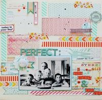 #papercraft #scrapbook #layout A Project by Lilith Eeckels from our Scrapbooking Gallery originally submitted 09/08/12 at 05:40 AM