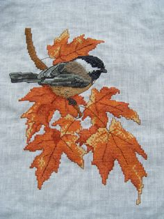 Fall Cross Stitch, Cross Stitch Animals, Cross Stitch Charts, Cross Stitch Designs, Cross Stitch Patterns, Hand Work Embroidery, Embroidery Art, Cross Stitch Embroidery, Embroidery Designs