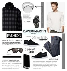 """""""Men's Fashion - David and Martin Jewellery 19"""" by cly88 ❤ liked on Polyvore featuring Calvin Klein, James Perse, Dragon, PhoneSuit, Ermanno Scervino and August Steiner"""