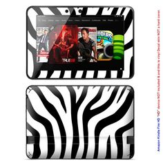 Zebra! Decalrus MATTE Protective Decal Skin skins Sticker for Amazon Kindle Fire HD 8.9 Tablet. The skin gives your device a new look