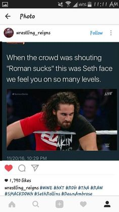 You thought he was gone, but guess who's back. The one thing will happen that no one would think would happen. This is the sequel to I fell for a legend. So if you haven't read that one yet then you will not understand what is happening. Wwe Seth Rollins, Seth Freakin Rollins, Wwe Funny, Funny Marvel Memes, Wwe Superstar Roman Reigns, Wwe Roman Reigns, Wrestling Memes, The Shield Wwe, Drew Mcintyre