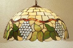 16.5 Tiffany Style Hanging Lamp. Hand crafted by AmberGlassArt