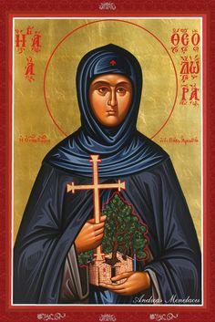 Theodora by Andreas Menelaou Byzantine Icons, Orthodox Christianity, Artist Portfolio, Orthodox Icons, Online Art Gallery, Ikon, Saints, Religion, Deviantart
