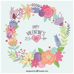 Desenho coroa de flores Dia dos Namorados
