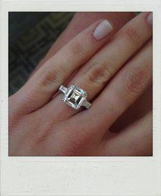 stunning asscher engagement ring