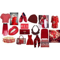 """""""Red - Friday Favorites"""" by marcyj147 on Polyvore"""