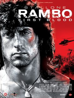 First Blood movie was a classic. A pretty good action movie and a film that truly gave you what Vietnam officers experienced when they returned from the war. Stallone plays John Rambo impeccably and he is physically great for the job too. Action Movie Poster, Movie Poster Art, Action Film, Film Posters, Films Étrangers, Films Cinema, Best Action Movies, Good Movies To Watch, First Blood