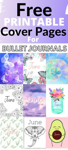 Free printable bullet journal cover pages for June. Click here to see over 16 free printable cover pages. #Bulletjournalprintables #Freeprintables #Bulletjournalcoverpages #Bulletjournalideas #Junebulletjournal #Bujo Bullet Journal June, Bullet Journal Cover Page, Bullet Journal Printables, Journal Covers, Student Planner Printable, Free Planner, Cover Pages, Planner Stickers, Free Printables