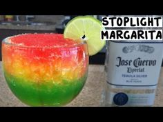 Great Cocktail Recipes: Stoplight Margarita via Tipsy Bartender