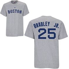 Jackie Bradley Jr Boston Red Sox Grey Player T-Shirt by Majestic Select Size: Medium