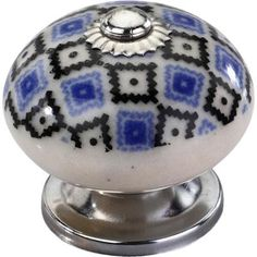 Provide a classic and marvelous look to your cabinet with the addition of this Mascot Hardware Quatrefoil Blue and Black Cabinet Knob. Cabinet Knobs, Cabinet Hardware, Door Knobs, Dresser Drawer Pulls, Blue Cabinets, Hickory Hardware, Crystal Knobs, Ceramic Knobs, Glass Knobs