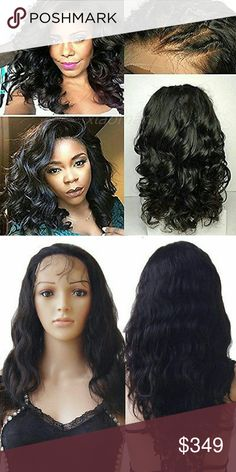 """Brazilian Bodywave Lace Front Wig 100% Brazilian Human Hair Lace Front Wigs with Baby Hair Straight Body Wave    Description 100% REMY HUMAN HAIR LACE FRONT WIG WAVY  Fuss No Mess, Just Perfect Hair!!! Hair Quality: 100% Remy Human Hair Available colours 1B Off Black  Front Lace Wig Size: Circumference:21""""-23.5""""                                   Ear to ear across forehead:11""""                                   Ear to ear ove               ebus106 Accessories Hair Accessories"""