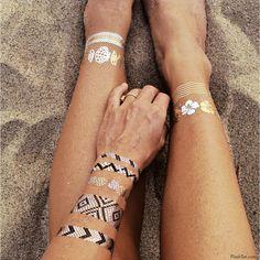 verkrijgbaar op www.miss-p.nl Flash tattoos zijn de nieuwste must have en zijn de perfecte accessoire op het strand, zwembad, feesten, festivals en concerten.
