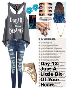 """""""Day 13"""" by k17dunn ❤ liked on Polyvore featuring beauty, Current/Elliott, H&M, Sole Society, Hermès, Minnie Grace, alfa.K and KitKatSongChallenge"""