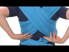 Echarpe de portage Tricot slen Babylonia position du berceau pour  allaitement - YouTube d6b4df8dcf0