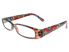 "Reading Glasses ""Bliss"" Red Paisley"