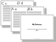 PERSONAL DICTIONARY TEMPLATE -- Mr. Myers' Classroom: Teacher ...