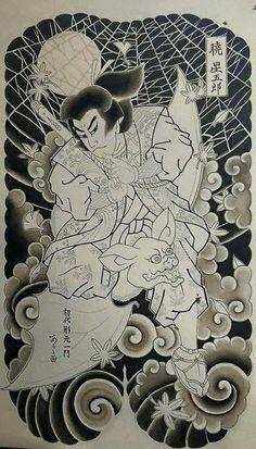 Tebori Tattoo, Irezumi Tattoos, Sketch Tattoo Design, Tattoo Sketches, Japanese Prints, Japanese Design, Japanese Warrior, Japan Tattoo, Oriental Tattoo