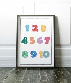 Numbers Print Nursery Prints Nursery Wall Art Unisex | Etsy Nursery Prints, Nursery Wall Art, Wall Art Prints, Kids Prints, Large Prints, Family Print, Printable Wall Art, Handmade Items, Etsy Seller