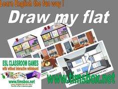 CLASSROOM GAMES - DRAW MY FLAT- Expression orale - COLLEGE