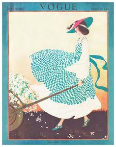 ⍌ Vintage Vogue ⍌ art and illustration for vogue magazine covers - June, artwork by Rita Senger Art Deco Posters, Vintage Posters, Vintage Art, Retro Posters, Movie Posters, Vintage Vogue Covers, Ladybug And Cat Noir, Art Deco Illustration, Digital Illustration