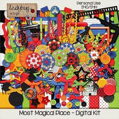 Most Magical Place  MEGA Digital Scrapbooking Kit