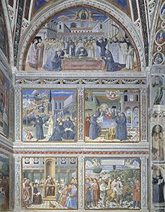 Scenes from the life of Sant'Agostino, by Benozzo Gozzoli - Church of Sant'Agostino, San Gimignano - 30 km from Relais La Suvera, Tuscany
