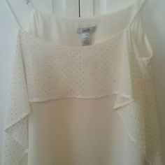 Cache ivory top New with tags ivory spaghetti strap airy top with metal beads around . Side flare out Cache Tops Tank Tops