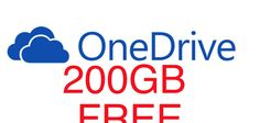 How to get Microsoft OneDrive – 200GB Free!