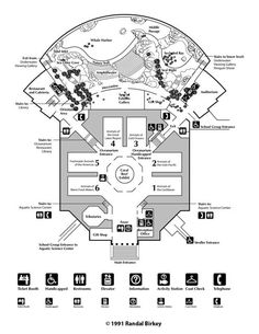 Shedd Aquarium and Oceanarium Facility Floor Plan, Chicago, Illinois