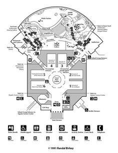 Shedd Aquarium and Oceanarium Facility Floor Plan, Chicago, Illinois