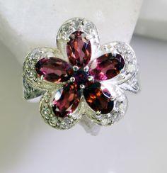 Garnet Gemstone 925 Sterling Silver Promise Ring Jewelry Sz 8 Srgar8-2683
