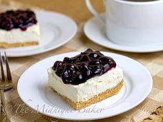 No-Bake Blueberry Cheesecake Bars